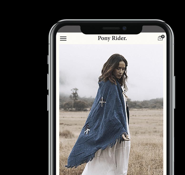 Pony Rider's Custom Responsive Web Design Neto Website on mobile