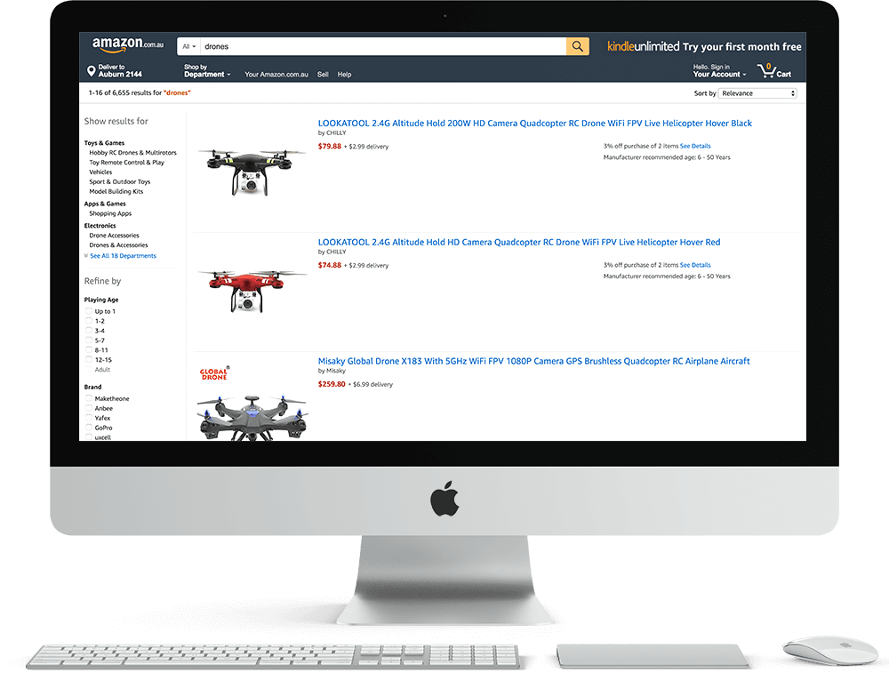 Search Engine Optimisation for Amazon's SERPs