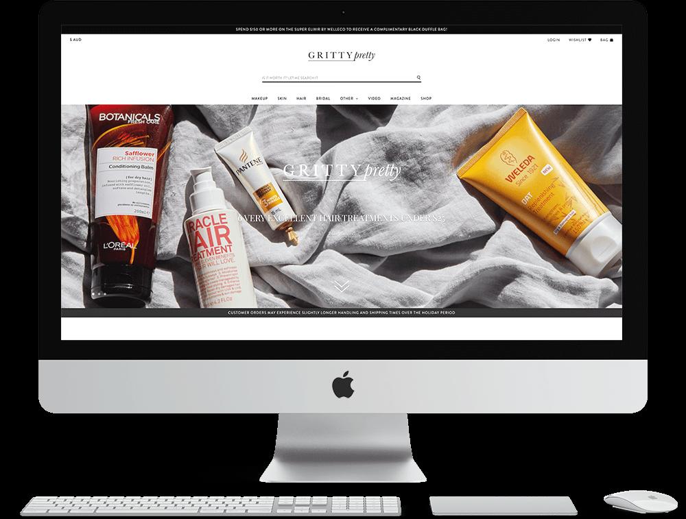 GrittyPretty Neto eCommerce Website